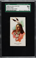 "Non-Sport Cards:Singles (Pre-1950), 1888 N2 Allen & Ginter ""American Indian Chiefs"" Big Chief SGC 84 NM 7 - Highest Grade Known!..."