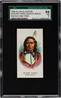 "Non-Sport Cards:Singles (Pre-1950), 1888 N2 Allen & Ginter ""American Indian Chiefs"" Black Hawk (DS)SGC 84 NM 7 - Only One Higher!..."