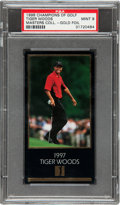 Golf Cards:General, 1997-98 Champions of Golf Masters Collection Tiger Woods, Gold Foil PSA Mint 9. ...