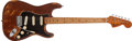 Musical Instruments:Electric Guitars, 1974 Fender Stratocaster Mocha Electric Guitar, #553885....