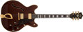Musical Instruments:Electric Guitars, Mid 1970s Guild Starfire VI Walnut Electric Guitar, #104429....