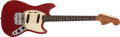 Musical Instruments:Electric Guitars, 1966 Fender Mustang Dakota Red Electric Guitar, #186322....