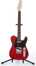 Musical Instruments:Electric Guitars, 2008 Fender American Telecaster Transparent Red Electric Guitar,Serial # Z8056607....