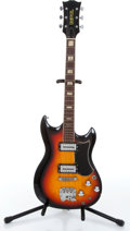 Music Memorabilia:Instruments , 1960s Univox Sunburst Electric Guitar Serial # 001933....