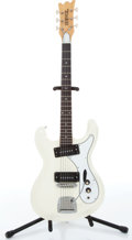Musical Instruments:Electric Guitars, 1960s Univox Hi-Flier Phase 1 White Electric Guitar Serial#0167376....