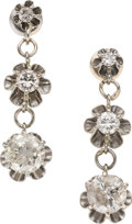 Estate Jewelry:Earrings, Diamond, White Gold Earrings. ... (Total: 2 Pieces)