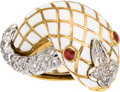 Estate Jewelry:Rings, Diamond, Ruby, Enamel, Gold Ring, David Webb. ...