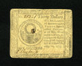 Colonial Notes:Continental Congress Issues, Continental Currency May 10, 1775 $30 Very Fine-Extremely Fine.Fold counters will like this note as virtually Extremely Fin...