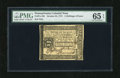Colonial Notes:Pennsylvania, Pennsylvania October 25, 1775 2s/6d PMG Gem Uncirculated 65EPQ.This is a stunning example of this popular columned Pennsylv...