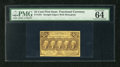 "Fractional Currency:First Issue, Fr. 1281 25c First Issue PMG Choice Uncirculated 64 EPQ. The label informs us of the ""exceptional paper quality"" that is pos..."