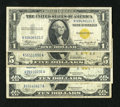 Small Size:World War II Emergency Notes, North Africa Foursome.. Fr. 2306 $1 1935A North Africa Silver Certificate. VF. Fr. 2307 $5 1934A North Africa Silver C... (Total: 4 notes)