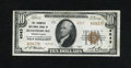 National Bank Notes:Pennsylvania, Bloomsburg, PA - $10 1929 Ty. 2 The Farmers NB Ch. # 4543. Originalsurfaces and bold embossing are highlights of this n...
