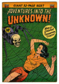 "Golden Age (1938-1955):Horror, Adventures Into The Unknown #33 Davis Crippen (""D"" Copy) pedigree(ACG, 1952) Condition: FN...."