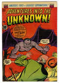 "Golden Age (1938-1955):Horror, Adventures Into The Unknown #45 Davis Crippen (""D"" Copy) pedigree(ACG, 1953) Condition: FN/VF...."