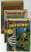 """Golden Age (1938-1955):Horror, Adventures Into The Unknown Group - Davis Crippen (""""D"""" Copy)pedigree (ACG, 1951).... (Total: 4)"""