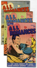 "Golden Age (1938-1955):Romance, All Romances #1, 2, and 5 Group - Davis Crippen (""D"" Copy) pedigree(Ace, 1949-50).... (Total: 3)"