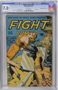 "Golden Age (1938-1955):War, Fight Comics #34 Davis Crippen (""D"" Copy) pedigree (Fiction House, 1944) CGC FN/VF 7.0 Off-white pages...."