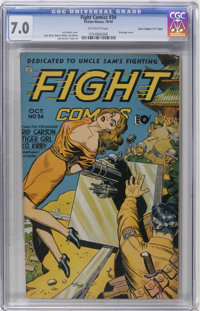 """Fight Comics #34 Davis Crippen (""""D"""" Copy) pedigree (Fiction House, 1944) CGC FN/VF 7.0 Off-white pages"""