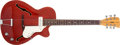 Musical Instruments:Electric Guitars, Late 1960s Vox Tornado Cherry Red Archtop Acoustic Electric Guitar,#278276. ...