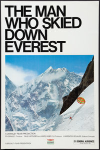"The Man Who Skied Down Everest (Specialty Films, 1976). Poster (24"" X 36.5""). Documentary"