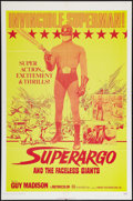 "Movie Posters:Adventure, Superargo and the Faceless Giants (Fanfare, 1971). One Sheet (27"" X41""). Adventure.. ..."