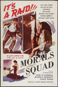 "Movie Posters:Exploitation, Morals Squad (Joseph Brenner Associates, 1960). One Sheet (27"" X41""). Exploitation.. ..."