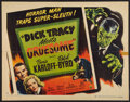 "Movie Posters:Crime, Dick Tracy Meets Gruesome (RKO, 1947). Half Sheet (22"" X 28"") StyleA. Crime.. ..."