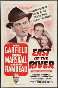 """East of the River (Warner Brothers, 1940). One Sheet (27"""" X 41""""). Drama"""