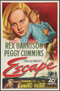 "Escape (20th Century Fox, 1948). One Sheet (27"" X 41""). Thriller"