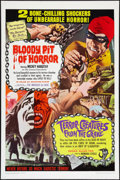 """Movie Posters:Horror, Bloody Pit of Horror/Terror-Creatures from the Grave Combo (Pacemaker, R-1967). One Sheet (27"""" X 41""""). Horror.. ..."""