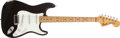 Musical Instruments:Electric Guitars, 1975 Fender Stratocaster Black Electric Guitar, #654955....