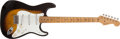 Musical Instruments:Electric Guitars, 1957 Fender American Stratocaster Sunburst Electric Guitar, #14390....