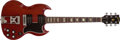Musical Instruments:Electric Guitars, 1963 Gibson SG Standard Cherry Electric Guitar, #107951....