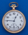 Timepieces:Pocket (post 1900), Hamilton Grade 974 Scarce True Time Dial Pocket Watch. ...