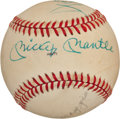 Autographs:Baseballs, 1980's New York City Center Field Legends Signed Baseball....