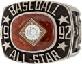 Baseball Collectibles:Others, 1992 Major League Baseball All-Star Game Ring....