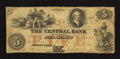 Obsoletes By State:Tennessee, Nashville, TN- Central Bank at the Dandrydge (Dandridge) Branch $5 July 11, 1855 G30 Garland 273. ...