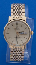Timepieces:Wristwatch, Omega Seamaster DeVille Gold Plate Wristwatch. ...