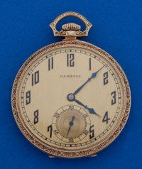 Hamilton 14k Gold 23 Jewel Grade 922 Pocket Watch