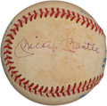 Autographs:Baseballs, 1970's Mickey Mantle & Roger Maris Signed Baseball....