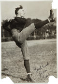 Football Collectibles:Photos, Circa 1919 George Gipp Signed Photograph....