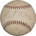 Autographs:Baseballs, 1927 Babe Ruth, Lou Gehrig & Waner Brothers Signed BaseballUsed in World Series Warm-Up by Herb Pennock....