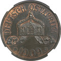 German East Africa, German East Africa: German Colonial 5 Heller 1909J,...