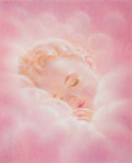 Mainstream Illustration, CHARLOTTE BECKER (German/American, 1907-1984). Angelic Baby.Watercolor and pastel on paper laid on board. 7.25 x 6 in....