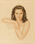 Pin-up and Glamour Art, ALBERTO VARGAS (American, 1896-1982). Alice Ann Kelley, MissJunior America, 1948. Watercolor on board. 20 x 16 in.. Sig...
