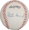 Autographs:Baseballs, 1960's Elston Howard Signed Baseball....