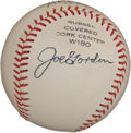 Autographs:Baseballs, Early 1960's Joe Gordon Signed Baseball. ...