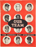 Baseball Cards:Sets, Extremely Rare 1955 Rodeo Meats Send-In Album With 28 Cards and Autographs! ...