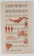Books:First Editions, Edwin T. Bowden. The First Hundred Publications of theHumanities Research Center of the University of Texas atAustin....