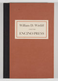 Books:Signed Editions, Gould Whaley, Jr [editor]. SIGNED LIMITED. William D. Witliff and the Encino Press. Dallas: Still Point Press, [1989...